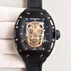 Replica Richard Mille RM052 SF PVD Gold Skull Dial Swiss M6T51