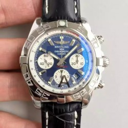 Replica Breitling Chronomat 44 AB011012/C788/435X/A20BA.1 N Stainless Steel Blue Dial Swiss 7750