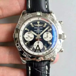 Replica Breitling Chronomat 44 AB011012/B967/435X/A20BA.1 N Stainless Steel Black Dial Swiss 7750
