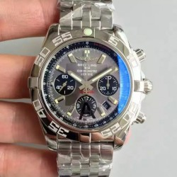 Replica Breitling Chronomat 44 AB011012/F546/375A JF Stainless Steel Grey Dial Swiss 7750