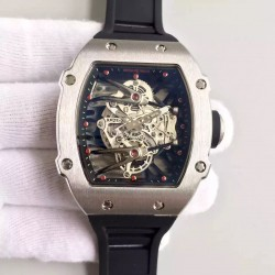 Replica Richard Mille RM27-02 Stainless Steel Black & Skeleton Dial M9015