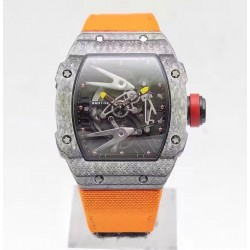 Replica Richard Mille RM27-02 Forged Carbon Black & Skeleton Dial M9015