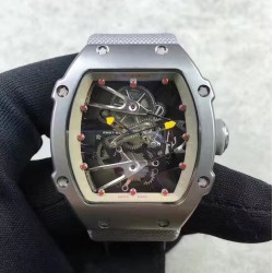Replica Richard Mille RM27-02 Stainless Steel Grey & Skeleton Dial M9015