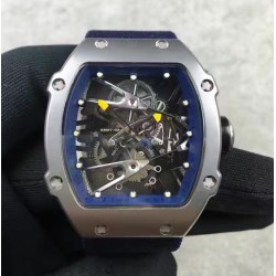 Replica Richard Mille RM27-02 Stainless Steel Blue & Skeleton Dial M9015