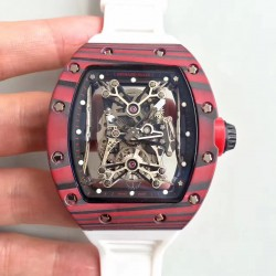 Replica Richard Mille RM50-27-01 NTPT KV Red Forged Carbon Black & Skeleton Dial M9015