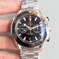 Replica Omega Seamaster Planet Ocean 600M Chronograph 215.30.46.51.01.002 JH Stainless Steel Black Dial Swiss 9900