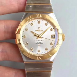 Replica Omega Constellation 123.20.38.21.52.002 38MM SSS Stainless Steel & Yellow Gold Rhodium Dial Swiss 8500