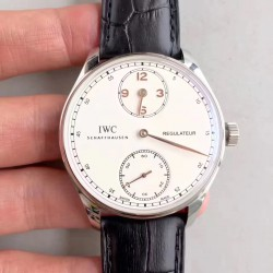Replica IWC Portugieser Regulateur IW544401 ZF Stainless Steel White & Gold Dial Swiss IWC 98245