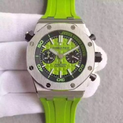 Replica Audemars Piguet Royal Oak Offshore Diver Chronograph 26703ST.OO.A038CA.01 JF Stainless Steel Green Dial Swiss 3124