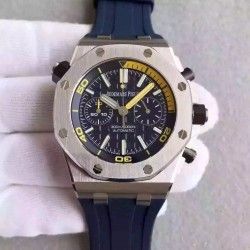 Replica Audemars Piguet Royal Oak Offshore Diver Chronograph 26703ST.OO.A027CA.01 JF Stainless Steel Blue Dial Swiss 3124