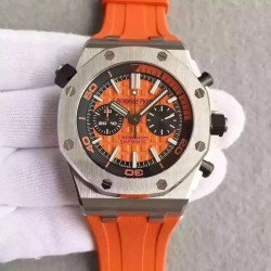 Replica Audemars Piguet Royal Oak Offshore Diver Chronograph 26703ST.OO.A070CA.01 JF Stainless Steel Orange Dial Swiss 3124