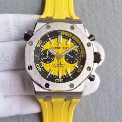 Replica Audemars Piguet Royal Oak Offshore Diver Chronograph 26703ST.OO.A051CA.01 JF Stainless Steel Yellow Dial Swiss 3124