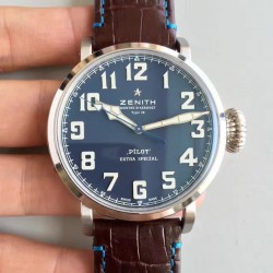 Replica Zenith Pilot Type 20 Extra Special 03.2430.3000.21.C738 XF Stainless Steel Blue Dial Swiss 2824-2