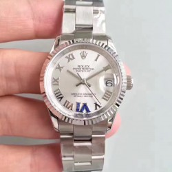 Replica Rolex Datejust 31 178240 31MM JF Stainless Steel Silver Dial Swiss 2836-2