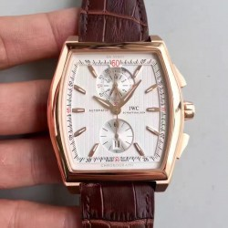 Replica IWC Da Vinci Chronograph IW376402 ZF Rose Gold White Dial Swiss 89361