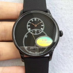 Replica Jaquet Droz Grande Seconde JD V3 Black Ceramic Black Dial Swiss 2663P