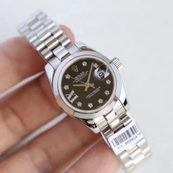 Replica Rolex Lady Datejust 28 279160 28MM N Stainless Steel Black Dial Swiss 2671