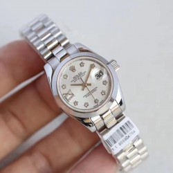 Replica Rolex Lady Datejust 28 279166 28MM N Stainless Steel Mother Of Pearl Dial Swiss 2671