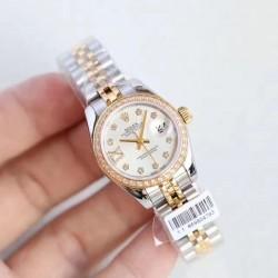 Replica Rolex Lady Datejust 28 279383RBR 28MM N Stainless Steel & Yellow Gold Mother Of Pearl Dial Swiss 2671